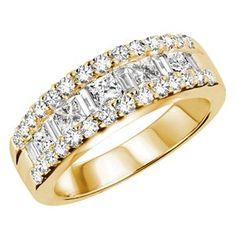 1 1/4 CTW #Diamond #Wedding Anniversary Band Ring in 14K Yellow Gold