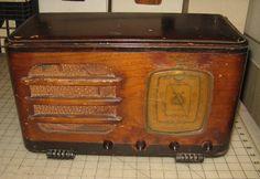 Vintage DeWALD Wood Table Top Shortwave Radio - Sold For Parts or Restoration | eBay