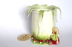 """Windlicht """"die Pilzsammlerin"""" von KatjaEDINGER Schönes selbst gemacht auf DaWanda.com"""