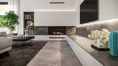 Projekt domu HomeKoncept-73 174,27 m2 - koszt budowy - EXTRADOM Modern House Plans, Modern House Design, Plans Architecture, My Dream Home, Bungalow, Beach House, Sweet Home, Rustic, Living Room