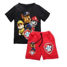 Baby Boys Cartoon Clothes Sets Kids Animal Printed