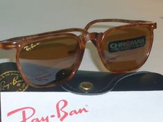 VINTAGE B RAY BAN W1725 SLEEK RECTANGULAR TRADITIONALS CHROMAX SUNGLASSES NEW! | eBay