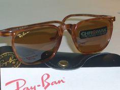 VINTAGE B RAY BAN W1725 SLEEK RECTANGULAR TRADITIONALS CHROMAX SUNGLASSES NEW! | eBay