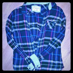 Adorable long sleeve shirt Multicolored plaid long sleeve t shirt from aeropostale. Size large in great condition. Aeropostale Tops Tees - Long Sleeve