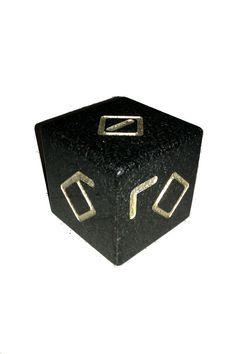 Gold-Engraved Granite Friendship Cube