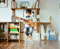 me and my guitar #7 ++ photography by : hideaki hamada