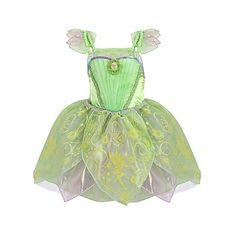 Tinker Bell Costume for Girls (180 BRL) ❤ liked on Polyvore featuring costumes, baby, baby stuff and dresses