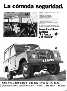 Imagen Land Rover 88, Land Rover Series 3, Land Rover Defender, Land Rover Santana, Vintage Cars, Antique Cars, Sleeping Man, Best 4x4, Van Camping