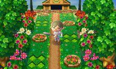 丸いレンガの花壇 - Merci