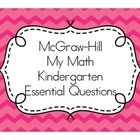 McGraw-Hill My Math Essential Questions for Kindergarten Posters