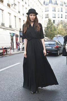 Picture perfect in all black. | Best Street Style Paris Fashion Week Spring 2014 | Pictures | POPSUGAR Fashion Photo 262