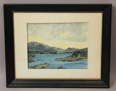 Estate-Found-EI-Bryce-Irish-Ireland-Mountain-Landscape-Seascape-Oil-Painting