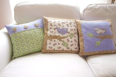 pillows with birds, Love Colors by Julianna Rencés Kovács