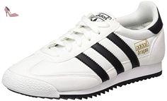 adidas Dragon Og, Sneakers Basses Mixte Enfant, Blanc (Footwear White/Core Black/Gold Metallic), 37 1/3 EU - Chaussures adidas (*Partner-Link)