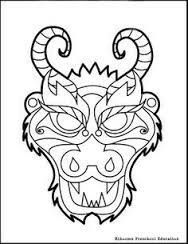 Chinese New Year Dragon Mask Coloring Page Kids Songs