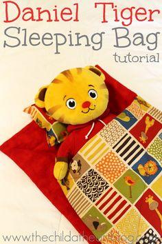 Stuffed Animal or Doll Sleeping Bag Tutorial  or Daniel Tiger Sleeping Bag Tutorial #sewing for beginners