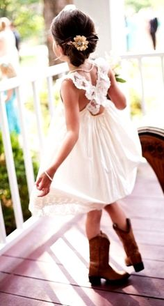 #Child photography little #Cowgirl dancing ToniK ~•❤• Bébé •❤•~ #wedding flower girl