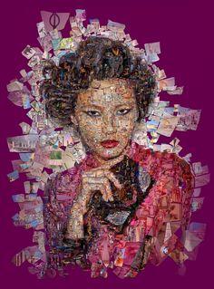 Charis Tsevis - Editorial Illustration 2016 - 2017 #mosaic #photomosaic #collage #asian #girl #fashion #arts #finearts #magazine #Greece #China #cover