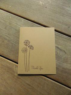 Dandelion Thank You Cards by Lemon Drops & Lilacs on etsy.com