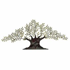 Decmode Metal Tree Wall Decor, Multi Color, Size: 94 inchW x 42 inchH, Multicolor Metal Wall Art Decor, Leaf Wall Art, Metal Tree Wall Art, Tree Wall Decor, Metal Wall Sculpture, Tree Sculpture, Wall Sculptures, Metal Art, Tree Artwork