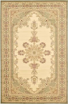 Family Room rug - Cream 10' 6 x 16' 5 Isfahan Design Rug   Area Rugs   eSaleRugs