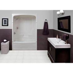MAAX Bath Essence 6030 4 Piece Tub Shower Right Hand Drain