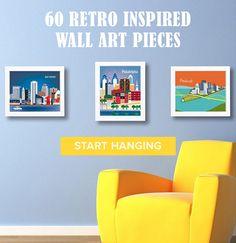 Retro Inspired Wall Art
