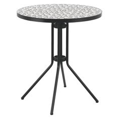BECKLEN Black bistro table with mosaic top Outdoor Tables, Outdoor Decor, Own Home, Habitats, Mosaic, Stool, Outdoor Furniture, Interior Design, Balcony
