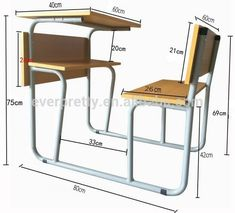 school desk dimensions - Google Search