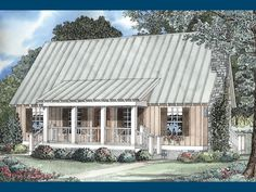 The Foxton Craftsman Cabin Home has 3 bedrooms and 2 full baths. See amenities for Plan 055D-0068.