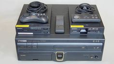 Sega PAC - Laserdisk player by pioneer that also played Genesis/Megadrive games and SegaCD games