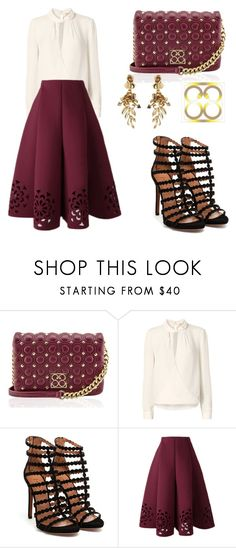 """""""Luxury Fashion Autumn with 88"""" by tania-alves ❤ liked on Polyvore featuring L'Agence, Alaïa and Oscar de la Renta"""