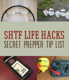 SHTF life hacks that we bet you've never heard of. Survival Life is the best source for prepper survival gear, tips, life hacks, and off the grid living. #survivalequipment #PrepperBeginner