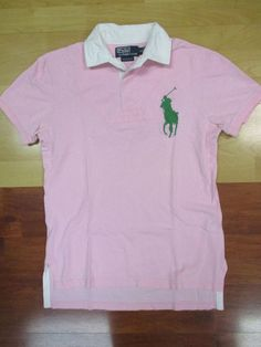 c027d9e6 Ralph Lauren Polo Custom Fit Pink Big Pony Short Sleeve Rugby Shirt - Small  #fashion