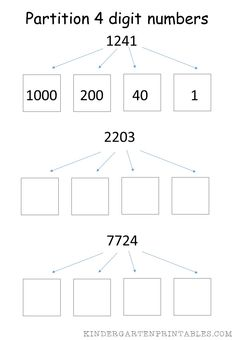 100 best mathematics images on pinterest mathematics number partition 4 digit numbers worksheet free printables partition 4 digit numbers worksheet ibookread Read Online