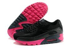 Cheap Nike Air Max 90 Deportes Zapatos Negro Rojo ENVÍO GRATIS POR DHL €60,36