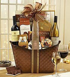 Perfect Pairing Wine & Chocolates Gift Basket