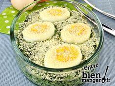 Épinards aux œufs en gratin