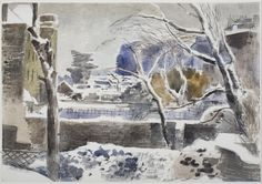 'Hampstead Gardens under Snow' by Paul Nash, c.1938/9 (watercolour on paper)