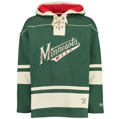 Old Time NHL Minnesota Wild Mens Alternate Lacer Heavyweight Hoodie Stone XX-Large