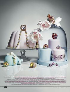 You Inspire, fine jewellery on cakes Jewellery Editor: Bettina Vetter Jewelry Ads, Photo Jewelry, Fine Jewelry, Fashion Jewelry, Jewelry Photography, Still Life Photography, Fashion Photography, Jewelry Editorial, Editorial Fashion