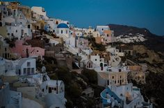 Oia just after sunset by Yiannis K. Mount Rushmore, Spaces, Mountains, Sunset, Nature, Travel, Naturaleza, Viajes, Sunsets