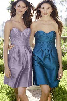 Love this lavender bridesmaids dress style
