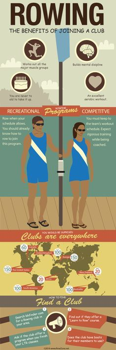 The benefits of joining a rowing club #infographic