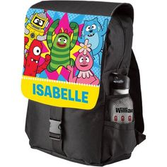 Personalized Yo Gabba Gabba Dance Party Black Youth Backpack