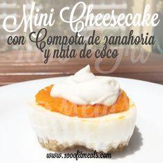 Mini Cheesecake Light (con compota de zanahoria y nata de coco)