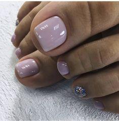 Gel Toe Nails, Acrylic Toe Nails, Feet Nails, Pretty Toe Nails, Cute Toe Nails, Pretty Nail Colors, Pedicure Designs, Pedicure Nail Art, Toe Nail Designs