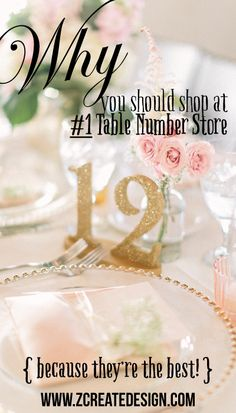 Even your handmade decor should come from a reputable company! This cute online boutique offers expert wedding table numbers and other decor for your wedding at several different price tiers. DIY options for the budget friendly bride or go luxe with professionally finished designs. Perfect! | www.ZCreateDesign.com