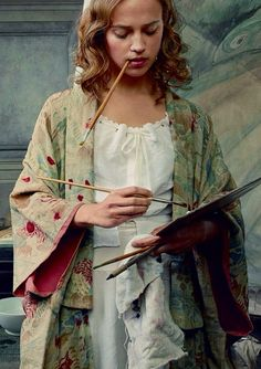Alicia Vikander stars as Gerda Wegener, the Danish illustrator wife of Eddie's character Einar, in the movie The Danish Girl. (Photographed by Annie Leibovitz for Vogue US October 2015)