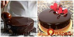 Vždy ma zaujímalo, ako robia vo francúzskych cukrárňach tú lesklú čokoládovú polevu (mirror glaze). Konečne mám perfektný dezert! How Sweet Eats, Mini Cakes, Decorating Tips, Baking Recipes, Food And Drink, Birthday Cake, Pudding, Sweets, Cooking